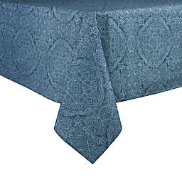 Bee & Willow™ Etched Oblong Laminated Tablecloth in Chambray