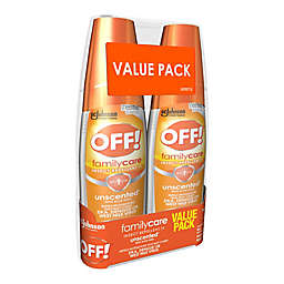 OFF!® 2-Pack 6 fl. oz. FamilyCare Unscented® Insect Repellent IV Sprays