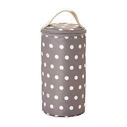 TWELVElittle Polka Dot Insulated Bottle Pouch in Beige