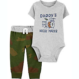 carter's® 2-Piece Daddy's Noise Maker Short Sleeve Bodysuit and Pant Set