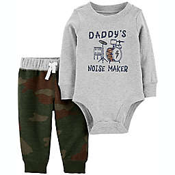 carter's® 2-Piece Daddy's Noise Maker Long Sleeve Bodysuit and Pant Set