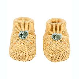 carter's® Turnip Crochet Booties in Yellow
