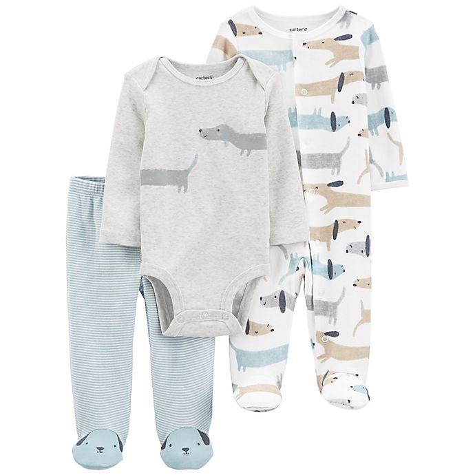 Alternate image 1 for carter's® 3-Piece Dog Bodysuit, Sleep & Play, and Pant Set