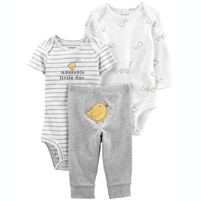 Alternate image 1 for carter's® 3-Piece Adorable Little Character Set in Ivory/Grey
