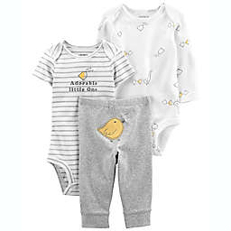 carter's® Size 6M 3-Piece Adorable Little Character Set in Ivory/Grey
