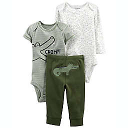 carter's® Size 12M 3-Piece Alligator Little Character Set in Green