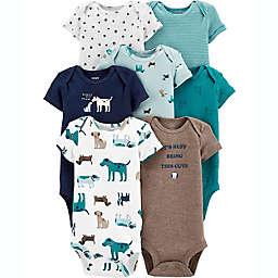carter's® 7-Pack Dogs Short Sleeve Bodysuits