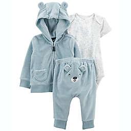 carter's® 3-Piece Bear Little Jacket, Bodysuit, and Pant Set in Blue