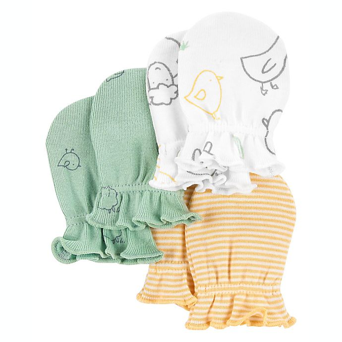 Alternate image 1 for carter's® 3-Pack Mittens in Ivory