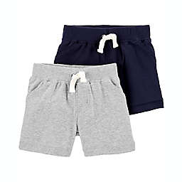 carter's® 2-Pack Shorts in Blue/Grey