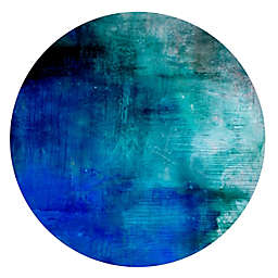 Courtside Market Abstract Blue and Teal Peel & Stick Circular Wall Decal