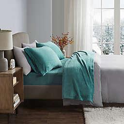 True North by Sleep Philosophy Soloft Plush Twin Sheet Set in Teal