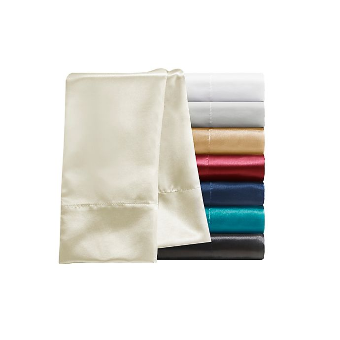 Alternate image 1 for Madison Park Essentials Wrinkle Free Satin Pillowcases (Set of 2)