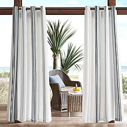 Madison Park Newport Printed Stripe 3M Scotchgard Outdoor Window Curtain Panel