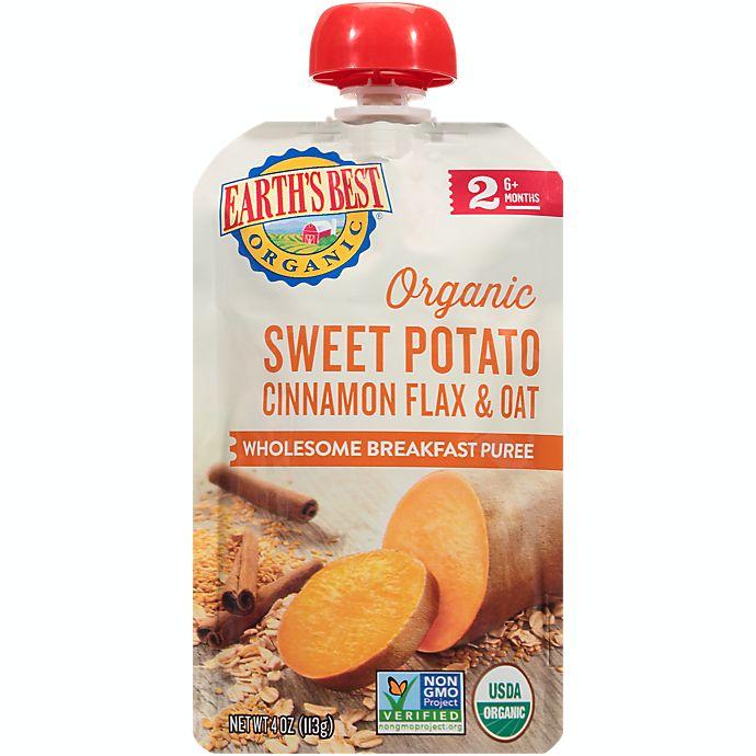 Alternate image 1 for Earth's Best® Organic 4 oz. Wholesome Breakfast Sweet Potato Cinnamon