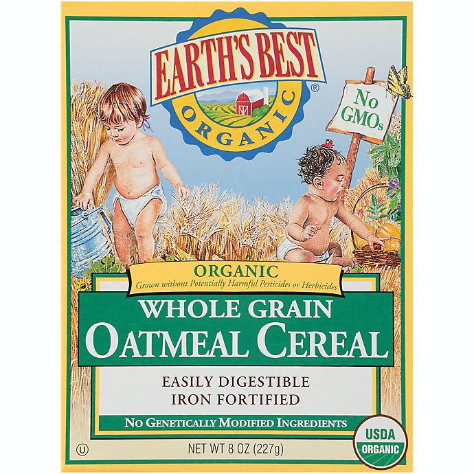 Alternate image 1 for Earth's Best® Organic 8 oz. Whole Grain Oatmeal Cereal