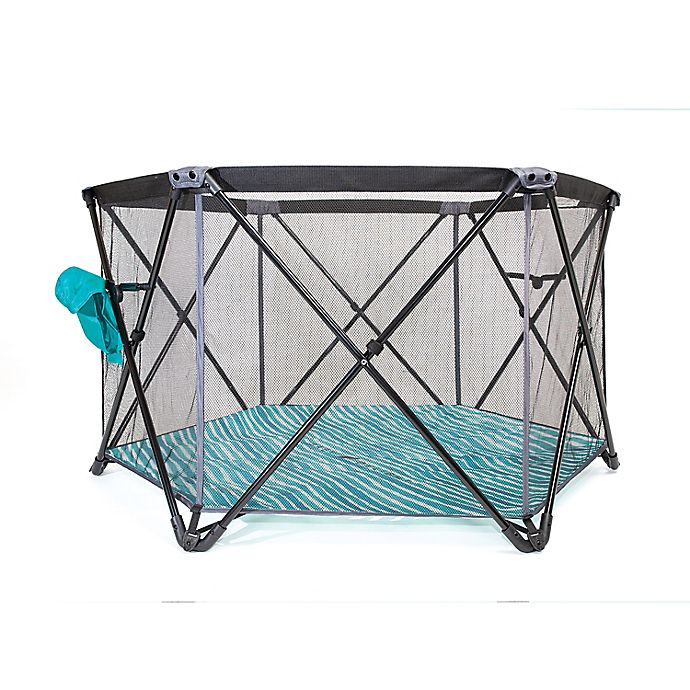 Alternate image 1 for Baby Delight®  Go With Me™  Haven Portable Playard in Teal/Grey