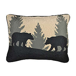 Donna Sharp® Bear Walk Plaid Pillow Sham in Green