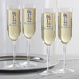 The Big Day Personalized Wedding Champagne Flute