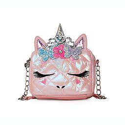 OMG Accessories Miss Gwen Flower Crown Crossbody in Pink
