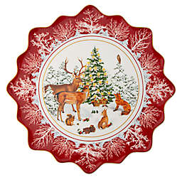 Villeroy & Boch® Toys Fantasy Forest Animals Large Pastry Plate in Red
