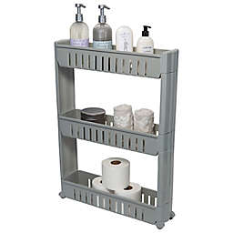 Simplify 3 Tier Slim Storage Cart in Grey