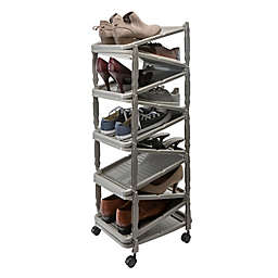 Simplify Collapsible Rolling Shoe Rack