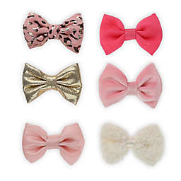 Capelli® New York 6-Piece Bow Clip Box Set in Pink