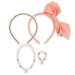 Capelli New York 4-Piece Hair and Jewelry Set in Peach