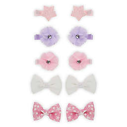 Capelli New York 10-Piece Star, Flowers and Bow Clip Set