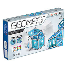 Geomag™ PRO-L 75-Piece Magnetic Construction Set in Silver/Blue