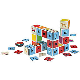 Geomag™ Magicube™ 79-Piece Word Buidling Set in Blue