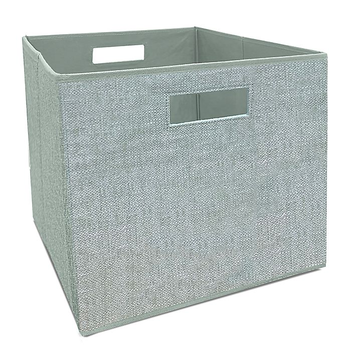Alternate image 1 for Squared Away™ 13-Inch Collapsible Storage Bin in Green
