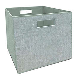 Squared Away™ 13-Inch Collapsible Storage Bin in Green
