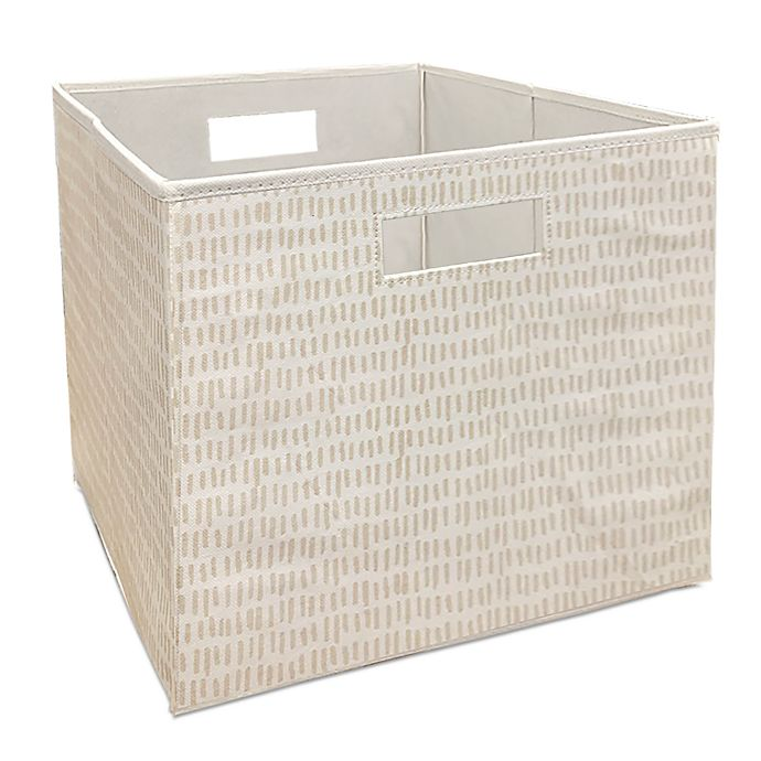 Alternate image 1 for Squared Away™ 13-Inch Collapsible Storage Bin in Natural Sticks