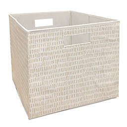 Squared Away™ 13-Inch Collapsible Storage Bin in Natural Sticks