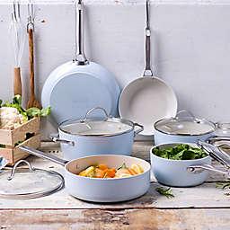 GreenPan™ Padova Ceramic Nonstick 10-Piece Cookware Set and Open Stock in Light Blue