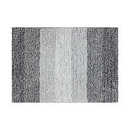 """Fashion Ombre Stripe 17"""" x 24"""" Bath Rug in Grey"""