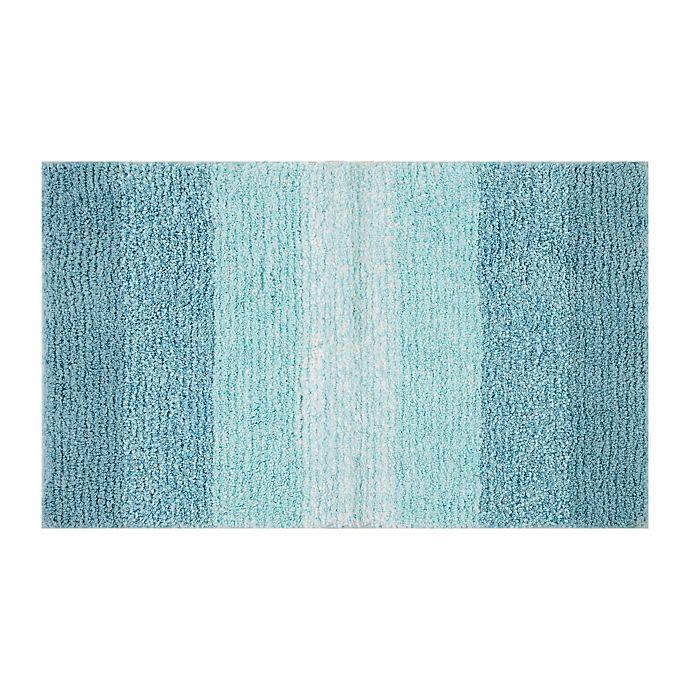 Alternate image 1 for Fashion Ombre Stripe Bath Rug