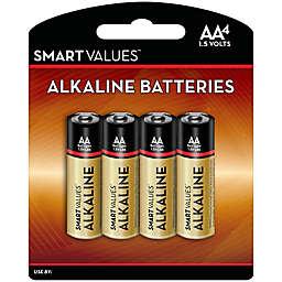 Smart Values™ 4-Pack AA Alkaline Batteries