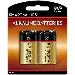 Smart Values™ 2-Pack 9V Maximum Power Alkaline Batteries
