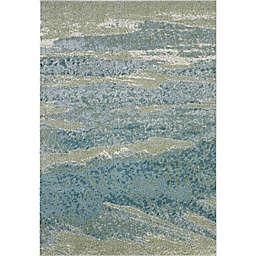KAS Illusions Mist 7'10 x 10'10 Area Rug in Ocean