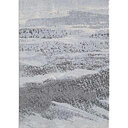 KAS Illusions 6'7 x 9'6 Area Rug in Blue/Grey