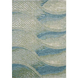 KAS Illusions Breeze 6'7 x 9'6 Area Rug in Ocean