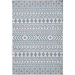 KAS Provo  3'3 x 4'11 Accent Rug in Ivory/Aqua