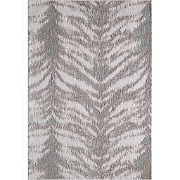 KAS Luna Birch 6'7 x 9'6 Area Rug in Platinum