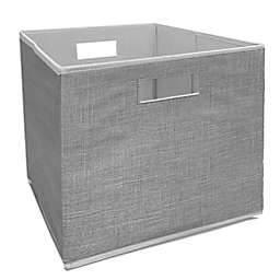 Squared Away™ 13-Inch Collapsible Storage Bin in Light Grey