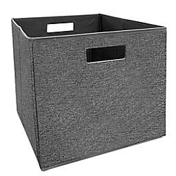 Squared Away™ 13-Inch Collapsible Storage Bin in Charcoal Tweed