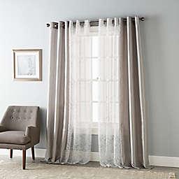 Stratford Park Liza 84-Inch Grommet Light Filtering Window Curtain Panels in Grey (Set of 4)