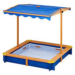 Teamson Kids Outdoor Summer Sand Box in Blue